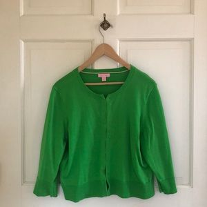 Lilly Pulitzer Green 3/4 Length Sleeve Sweater